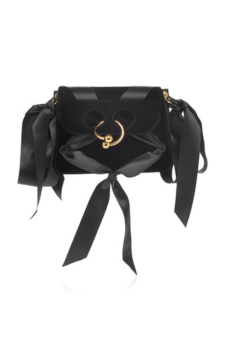 Medium j w anderson black mini pierce velvet bag