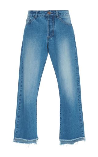 Medium johanna ortiz blue moravia frayed edge jean