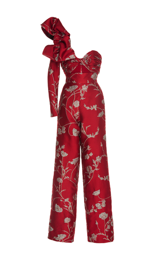 Medium johanna ortiz print jagger one shoulder jacquard jumpsuit