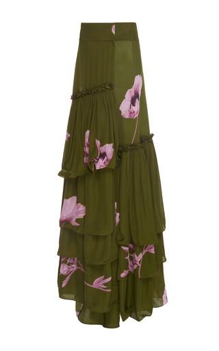 Medium johanna ortiz print bohemia tiered double georgette skirt