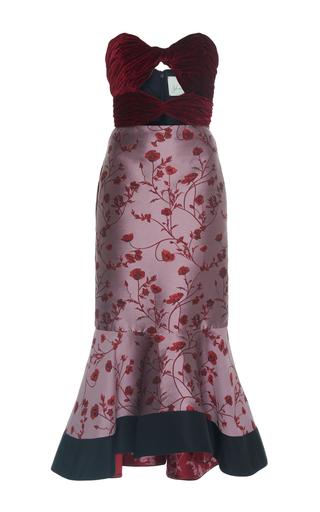 Medium johanna ortiz print lavina strapless fluted dress