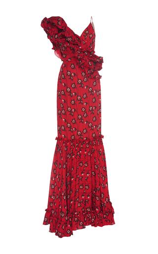 Medium johanna ortiz floral saint sarah ruffled georgette dress
