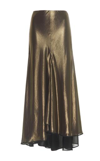 Medium johanna ortiz gold stones belted foiled georgette skirt