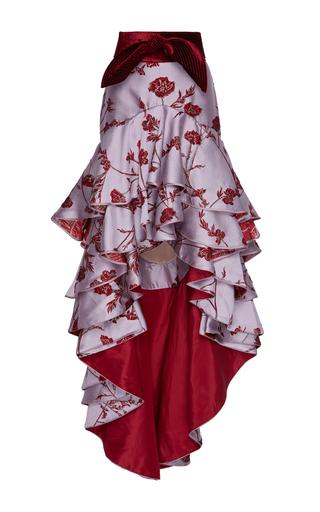 Medium johanna ortiz print bowie belted jacquard skirt