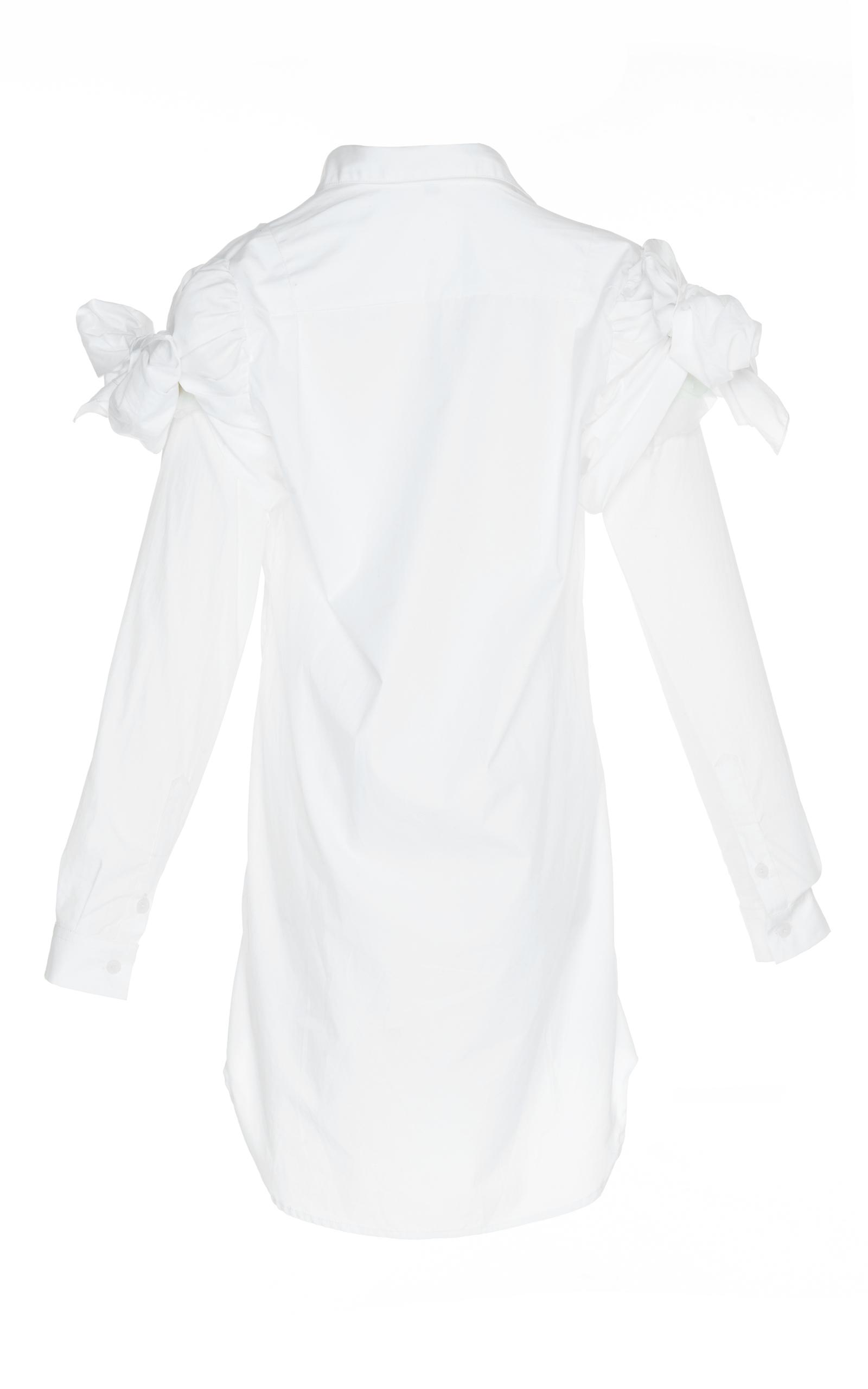 sarah ruffle shoulder poplin shirt by johanna ortiz