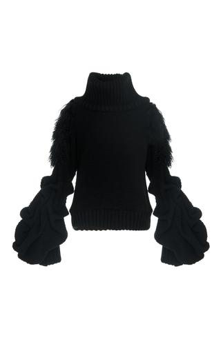 Medium johanna ortiz black irina puff sleeve pullover