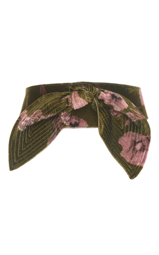Medium johanna ortiz green el cigala floral velvet belt