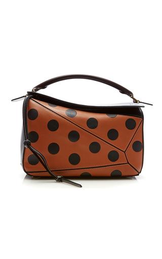 Medium loewe brown puzzle circles bag