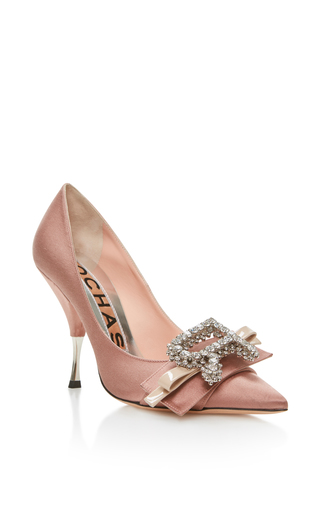 Medium rochas pink dusty rose pump with bow