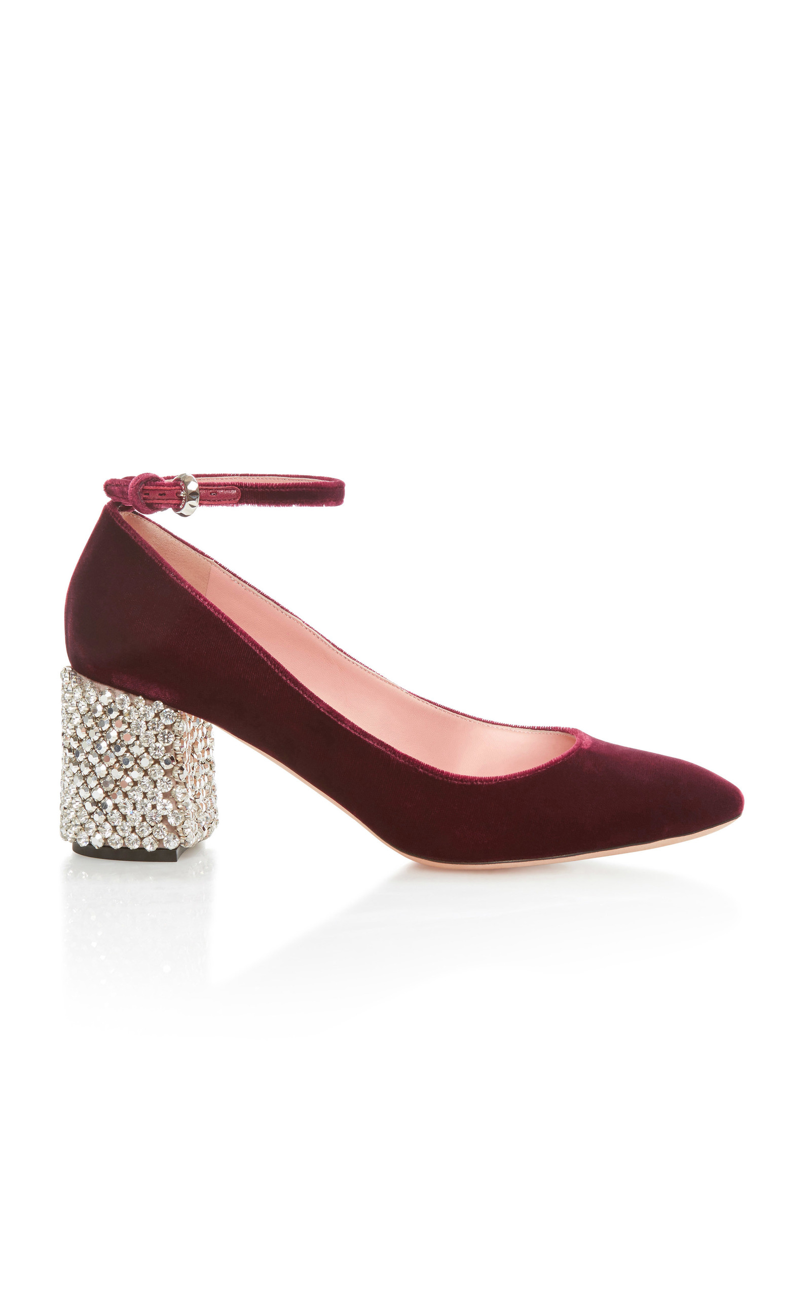 ROCHAS MARY JANE WITH EMBELLISHED HEEL