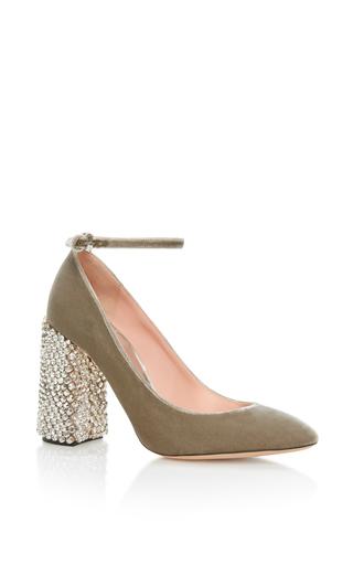 Medium rochas grey high mary jane with embellished heel