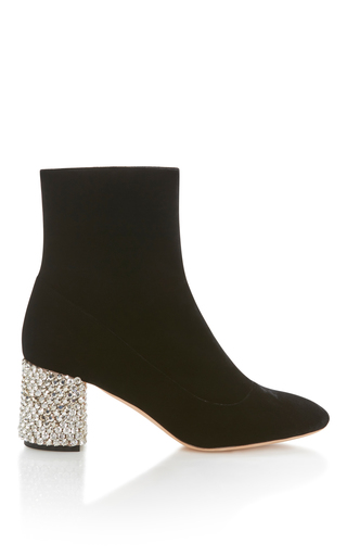 Medium rochas black crystal heel bootie