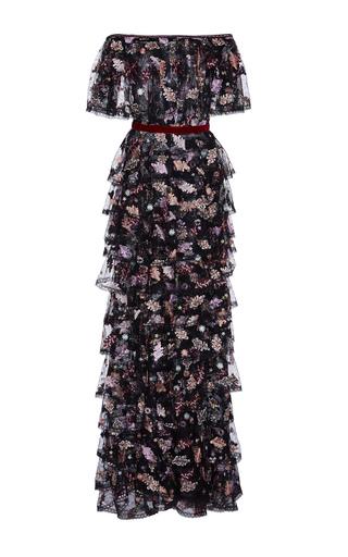 Medium costarellos floral off the shoulder tiered dress