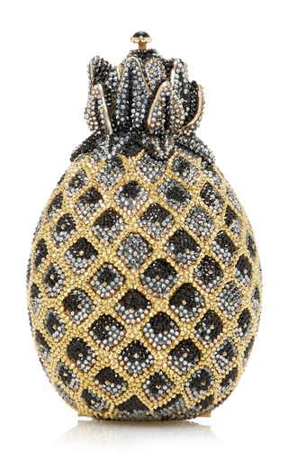 Medium judith leiber yellow crystal pineapple clutch