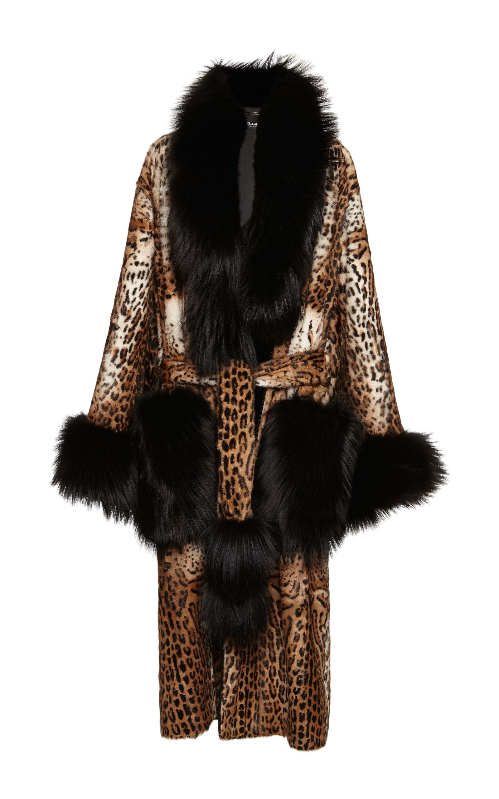 ab2b349dd693 Leopard Print Fur Coat by Dolce & Gabbana | Moda Operandi