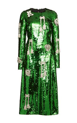 Medium dolce gabbana green long sleeve sequin dress