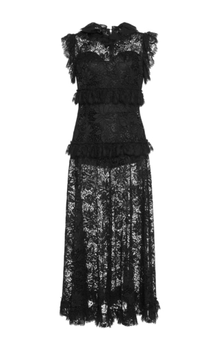 Medium dolce gabbana black sleeveless lace dress
