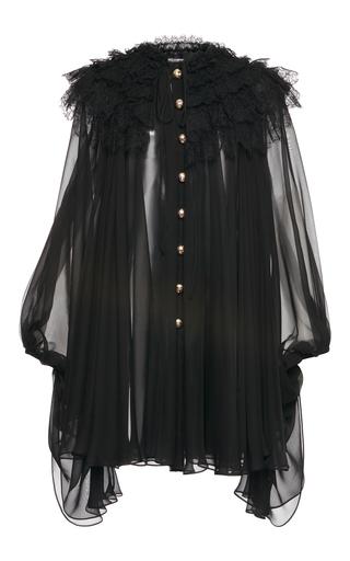 Medium dolce gabbana black long sleeve ruffle dress