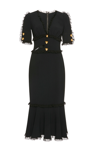 Medium dolce gabbana black short sleeve midi dress