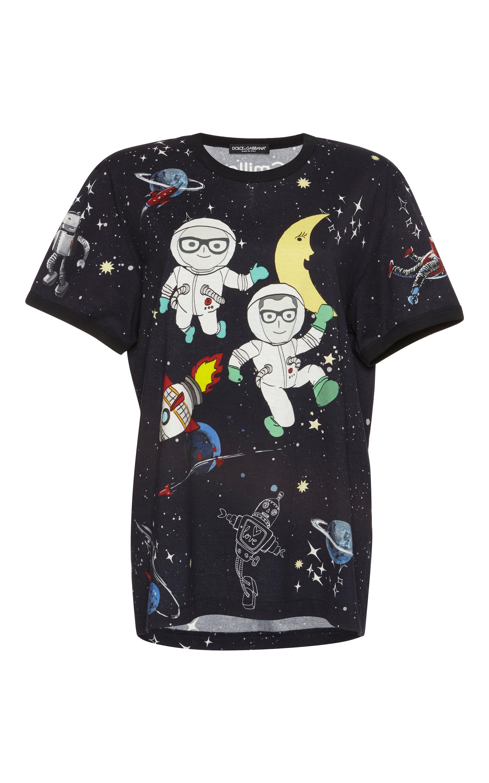 Short sleeve printed t shirt by dolce gabbana moda for Dolce and gabbana printed t shirts