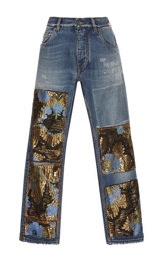 Medium dolce gabbana blue patchwork boyfriend jeans