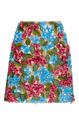Medium dolce gabbana floral 3d floral mini skirt