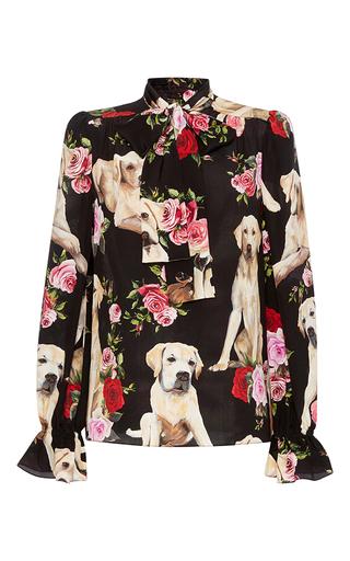 Medium dolce gabbana print floral and dog blouse