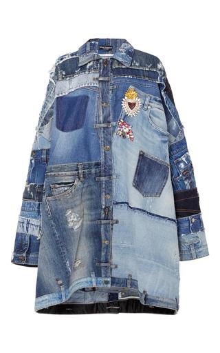 Medium dolce gabbana blue patchwork denim jacket