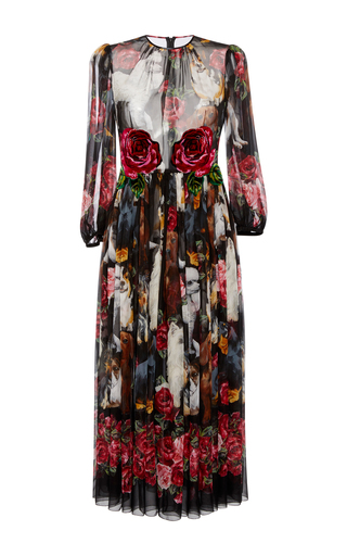 Medium dolce gabbana floral long sleeve floral dress