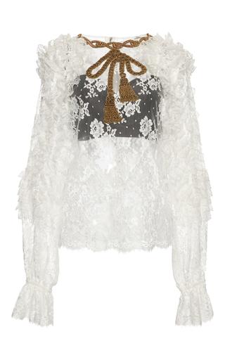 Medium dolce gabbana white long sleeve lace blouse 2