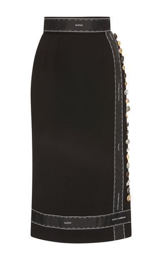 Medium dolce gabbana black high waisted midi dress