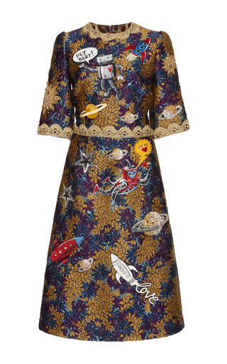 Medium dolce gabbana multi metallic a line dress