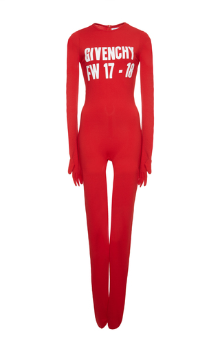 Medium givenchy red fluid crepe jersey jumpsuit