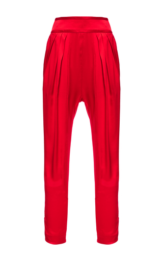 Medium givenchy red trousers in silk satin