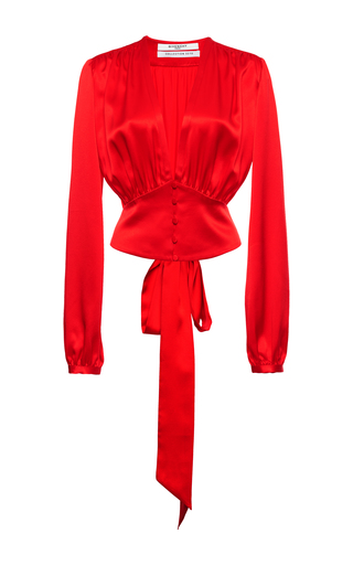 Medium givenchy red top in silk satin