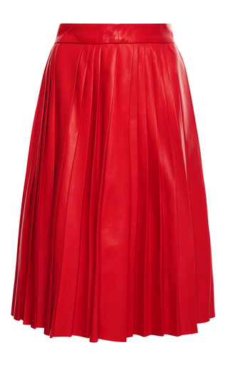 Medium givenchy red nappa plonge skirt