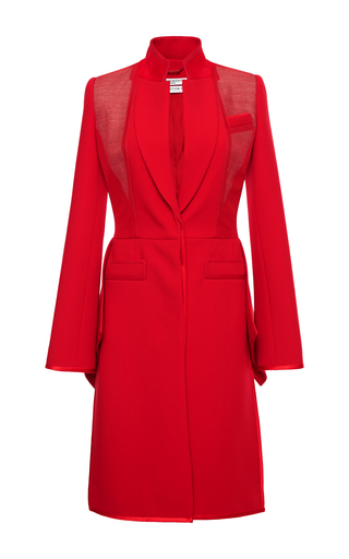 Medium givenchy red coat in double crepe