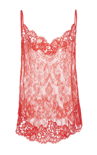 Medium givenchy red flower lace top