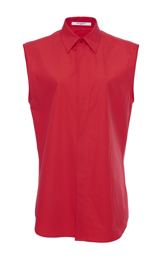Medium givenchy red shirt in cotton poplin