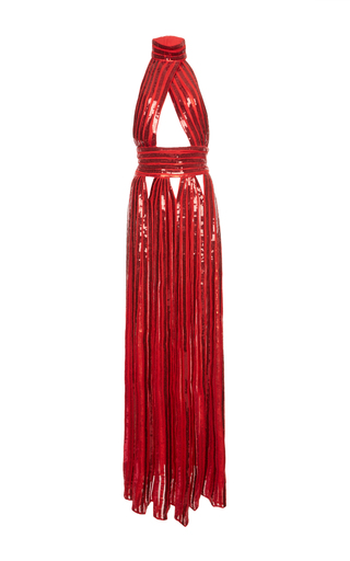 Medium givenchy red sequins band dress