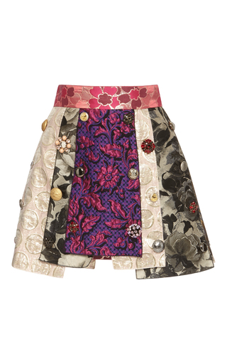 Medium dolce gabbana multi mixed media mini skirt