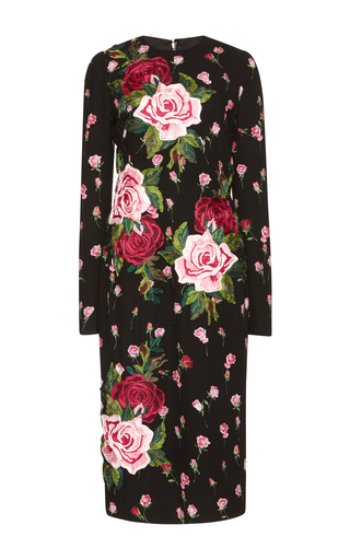 Medium dolce gabbana black long sleeve floral dress 3