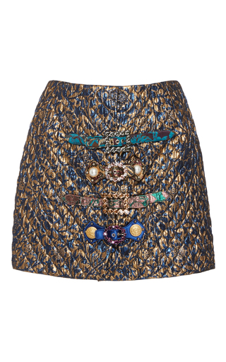 Medium dolce gabbana multi metallic mini skirt