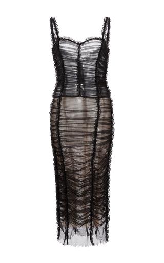 Medium dolce gabbana black ruched tank dress