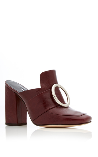 Medium dorateymur burgundy munise buckle mule 2