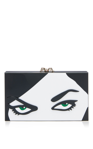 Medium charlotte olympia black white papercut pandora clutch