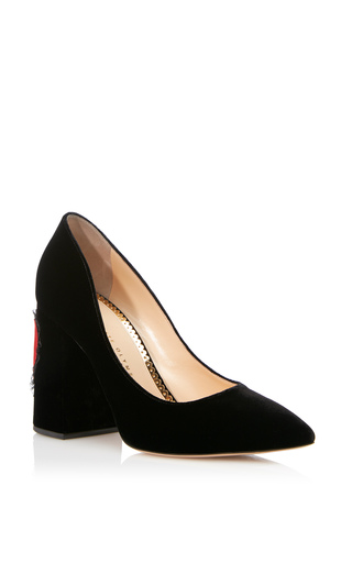Medium charlotte olympia black amanda pump