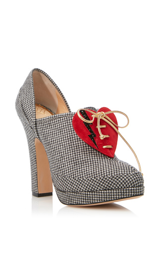 Medium charlotte olympia grey leading lady bootie