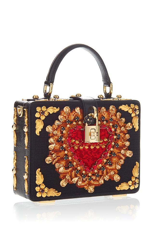 04399e314b Dolce   GabbanaHeart Embroidery Box Bag. CLOSE. Loading. Loading. Loading