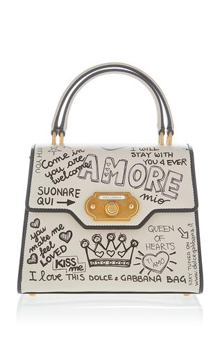 Medium dolce gabbana white amore top handle bag